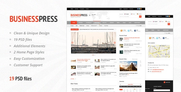 Business News - Premium Magazine PSD Template - Corporate Photoshop