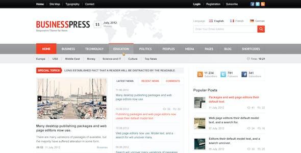 Business News - Premium Magazine PSD Template