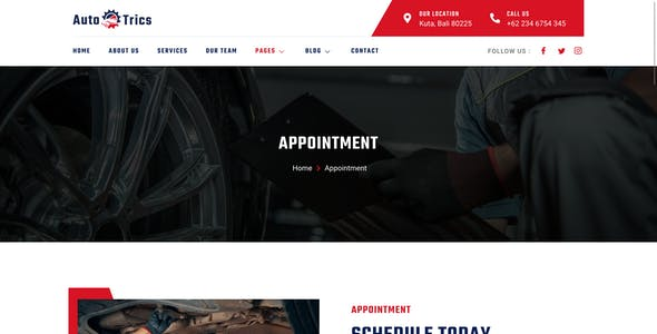 AutoTrics – Car Repair & Auto Service Elementor Template Kit