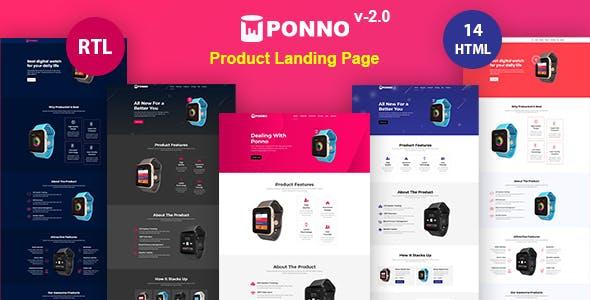 Ponno - Product Landing Page