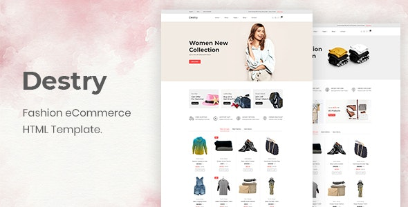 Destry Fashion eCommerce HTML Template