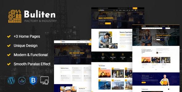 Buliten-Factory & Industry WordPress Theme - Business Corporate