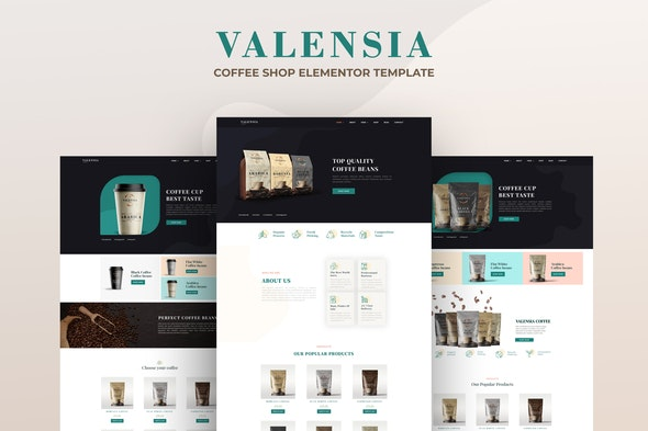 Valensia | Coffee Shop Elementor Template Kit - Food & Drink Elementor