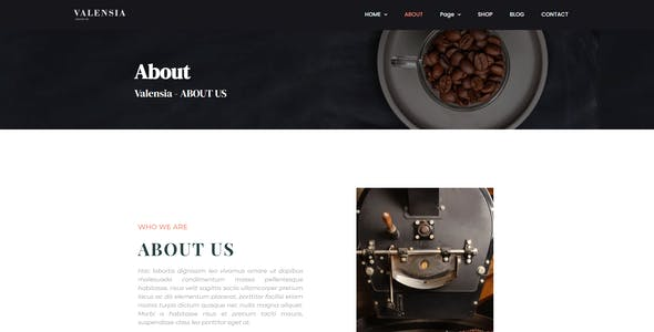 Valensia | Coffee Shop Elementor Template Kit