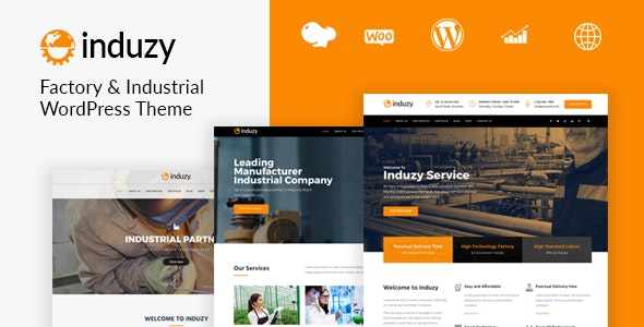 Induzy - Factory & Industrial WordPress Theme - Business Corporate
