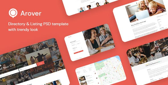 Arover - Directory & Listing PSD Template