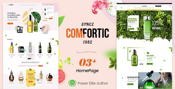 Comfortic - Clean Responsive Beauty & Cosmetic Shopify Theme - Shopify eCommerce