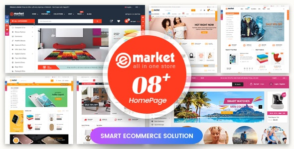 eMarket - Responsive & Multipurpose Sectioned Drag & Drop Bootstrap 4 Shopify Theme - Shopify eCommerce