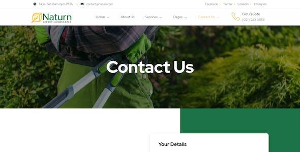Naturn – Landscape & Gardening Elementor Template Kit