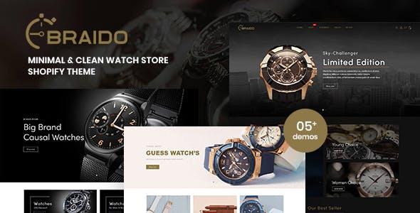 Braido - Minimal & Clean Watch Store Shopify Theme