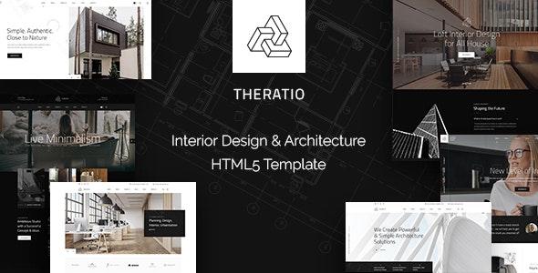 Theratio - Interior Design & Architecture HTML5 Template - Business Corporate