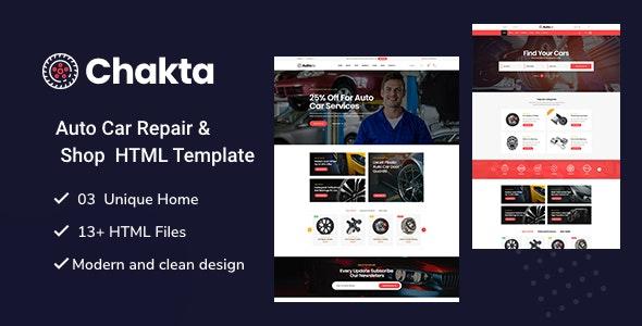 Chakta - Auto Parts Shop HTML Template - Shopping Retail