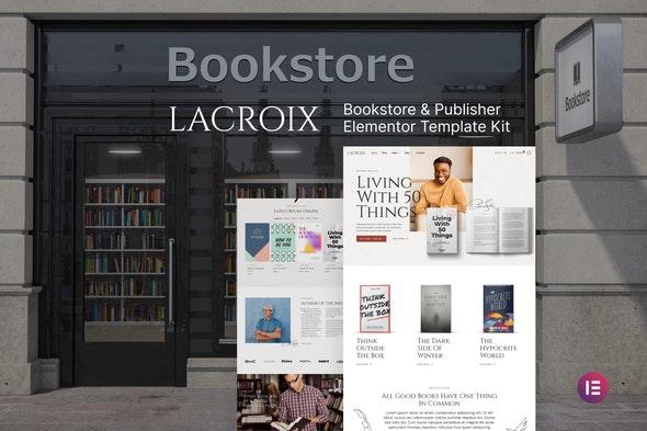 LaCroix – Author & Publisher Elementor Template Kit - Shopping & eCommerce Elementor