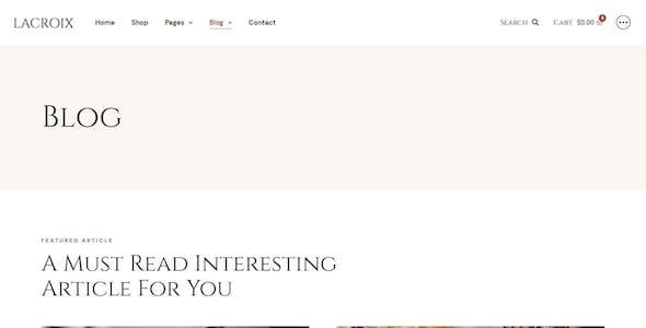 LaCroix – Author & Publisher Elementor Template Kit