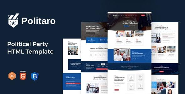 Politaro - Political and Government HTML Template - Political Nonprofit
