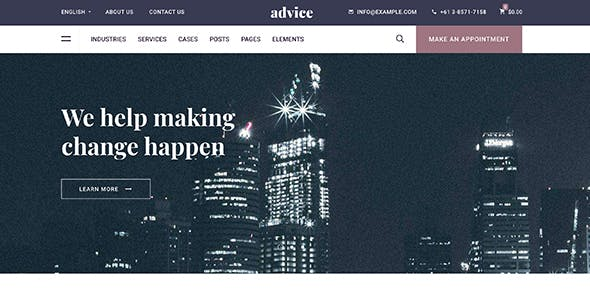 Advice - Business Consulting WordPress Theme