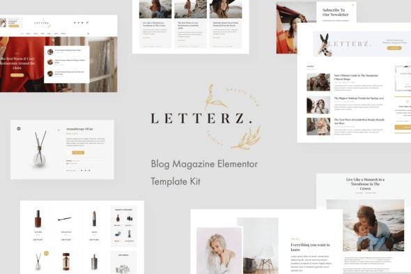 Letterz - Blog Magazine Elementor Template Kit - News & Magazines Elementor