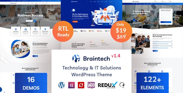 Braintech - Technology & IT Solutions WordPress Theme - Technology WordPress
