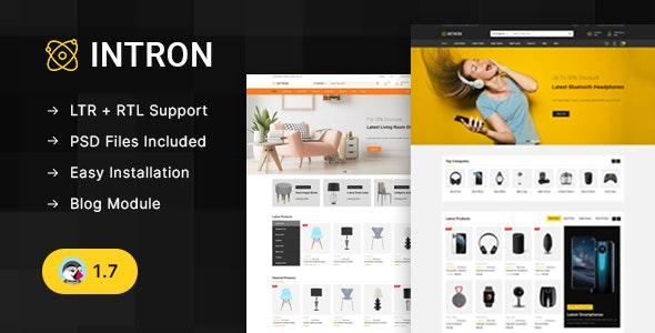 Intron - Mega Electronics Prestashop 1.7 Responsive Theme - Technology PrestaShop