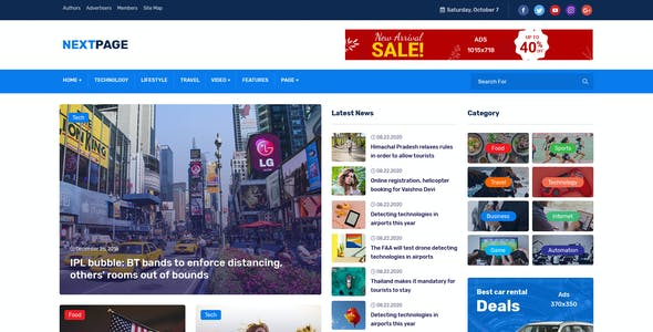 Nextpage React - Magazine & Newspaper Template