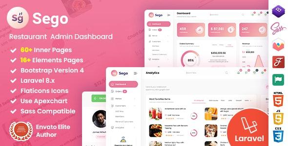 Sego - Restaurant Laravel Admin Dashboard Template - Admin Templates Site Templates