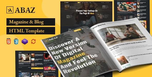 Abaz - Magazine & Blog HTML Template - Creative Site Templates