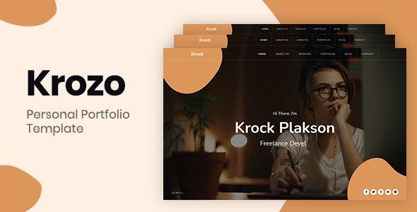 Krozo - Bootstrap 4 Personal Portfolio - Personal Site Templates