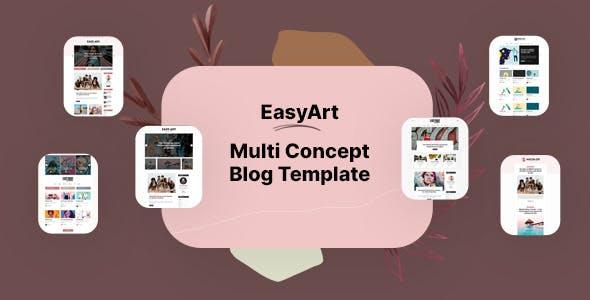 Easyart - Multiconcept Blog HTML Template