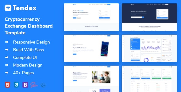 Tendex - Cryptocurrency Exchange HTML Template + Dashboard - Software Technology
