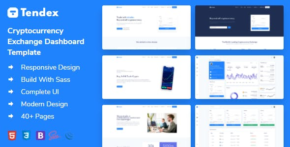 Tendex - Cryptocurrency Exchange HTML Template + Dashboard