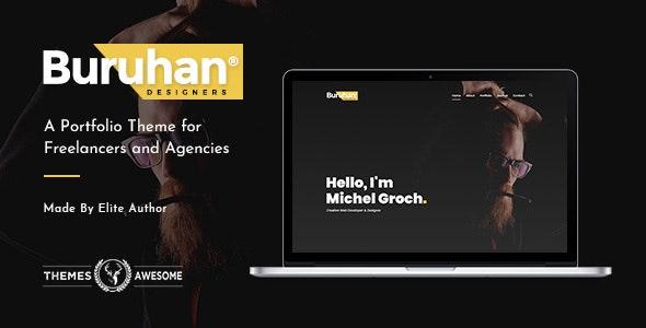 Buruhan   A Portfolio Theme for Freelancers and Agencies - Portfolio Creative