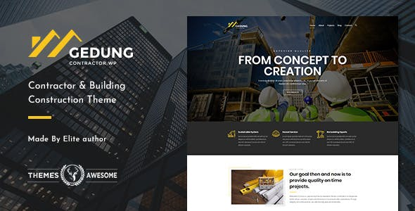 Gedung | Contractor & Building Construction Theme