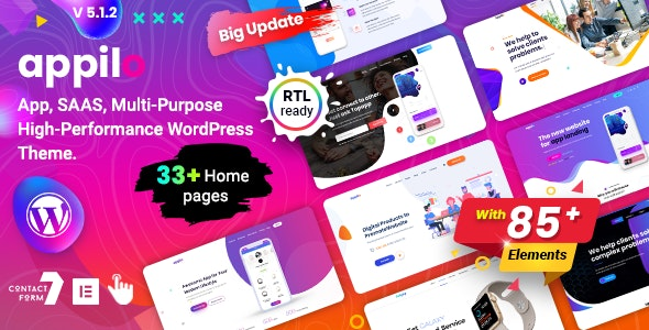 app landing page - Technology WordPress