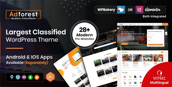 AdForest - Classified Ads WordPress Theme - Directory & Listings Corporate