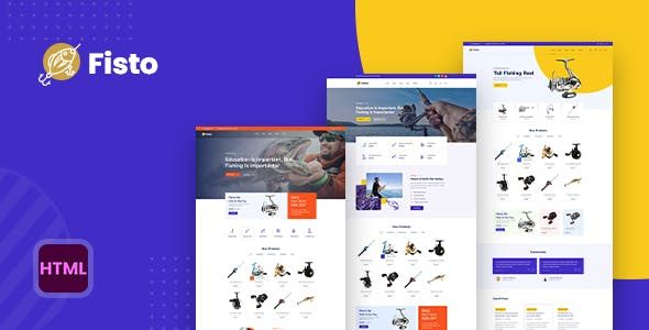 Fisto - Fishing and Hunting Hobby Accessories Store HTML5 Responsive Template