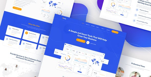 Xarris - SaaS & Startup Elementor Template Kit