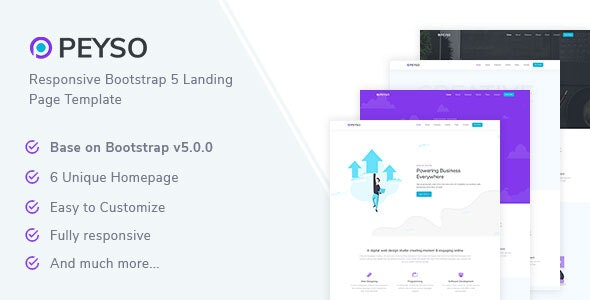 Peyso - Bootstrap 5 Landing Page Template - Landing Pages Marketing