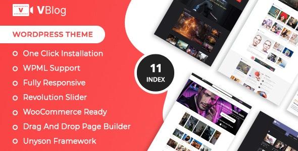 V-Blog – Video Blog WordPress Theme - Blog / Magazine WordPress