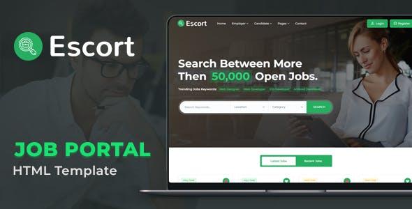Escort - Job Portal HTML Template