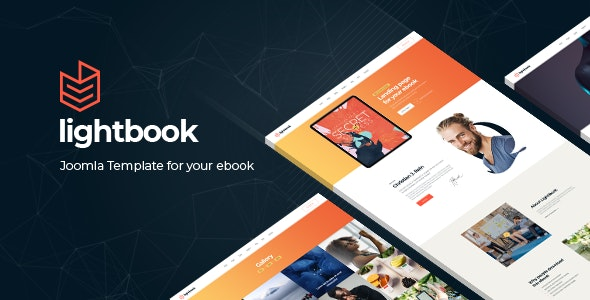 Lightbook - Book Author Promo Joomla Template - Joomla CMS Themes