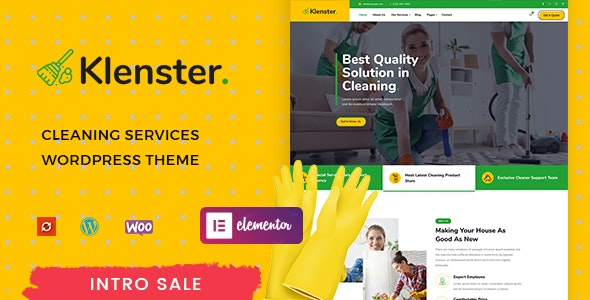 Klenster - Cleaning Services WordPress Theme - Marketing Corporate