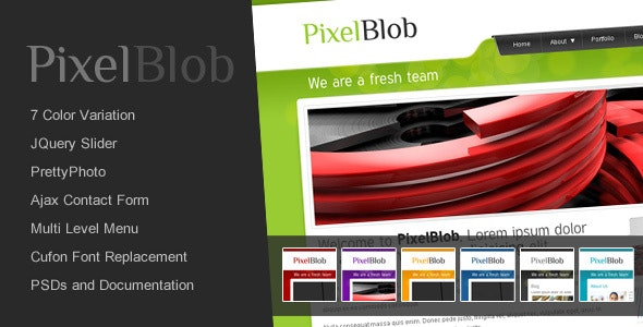 PixelBlob - Creative Business and Portfolio HTML - Portfolio Creative
