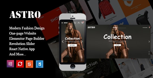 Astro - Fashion Ecommerce Shopping Theme - Fashion PrestaShop