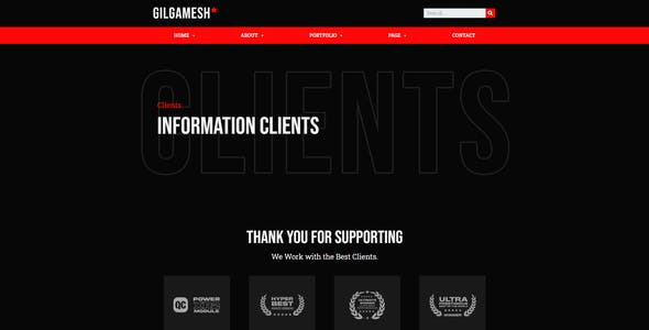 Gilgamesh - Creative Portfolio Elementor Template Kit