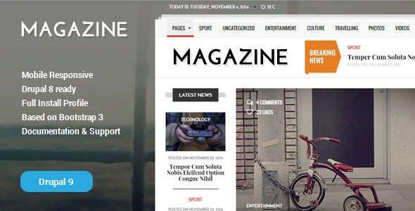 Gazeta - News & Magazine Drupal 9 Theme
