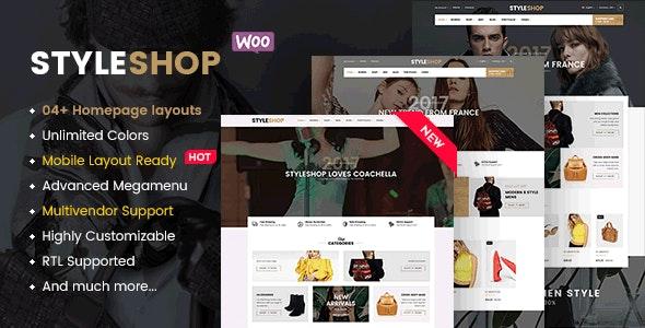 StyleShop - Responsive Clothing/ Fashion Store WordPress WooCommerce Theme (Mobile Layout Ready) - WooCommerce eCommerce