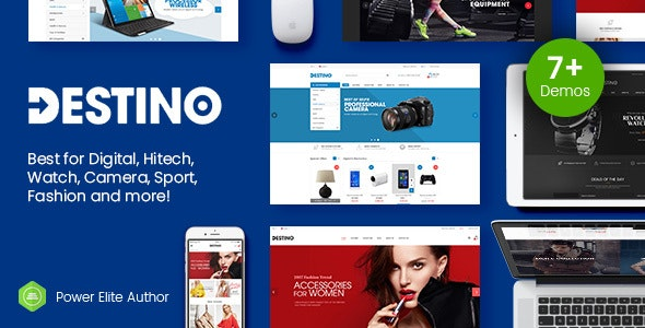 Destino - Digital Store & Fashion Shop WordPress WooCommerce Theme (7+ Indexes & Mobile Layouts) - WooCommerce eCommerce