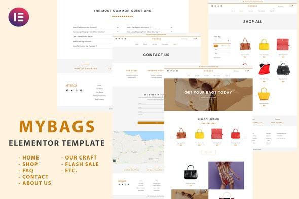 Mybags - Modern Commerce Elementor Template Kit - Shopping & eCommerce Elementor