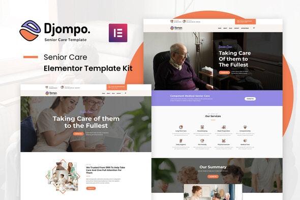 Djompo Kit - Senior Care Elementor Template Kit - Health & Medical Elementor