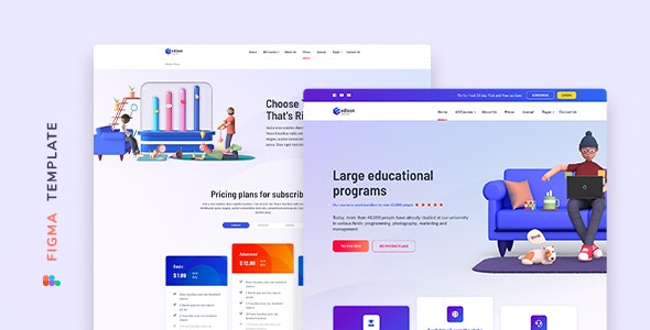 Edison – Online Education Template for Figma - Miscellaneous Figma